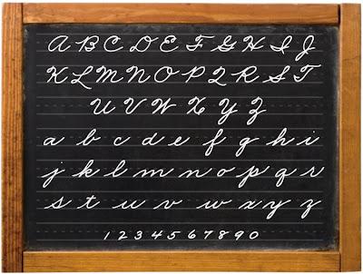 cursive alphabet printable