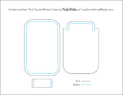 ipod touch and iphone template diy simple leather ipod touch