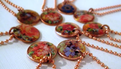 Decal Penny Pendants