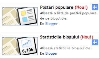 gadgeturile posturi populare si statisticile blogului