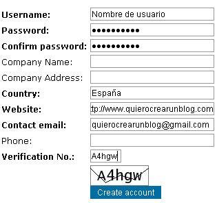 formulario de contacto para blog de blogger