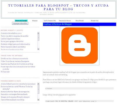 tutoriales para blogspot