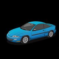 coche azul