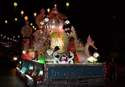 Loy krathong festival on full moon November