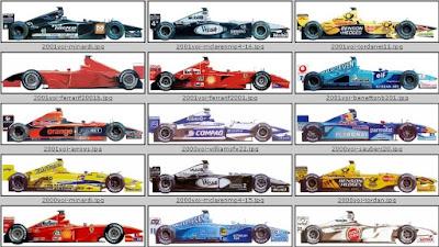 Todos los coches de Fórmula 1