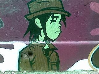 Gorillaz wall art