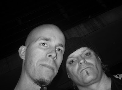 The Warrior and me after Celtic Frost gig in Gothenburg