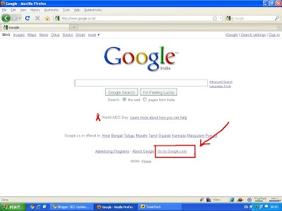 Google Search in Color Interface - Step1