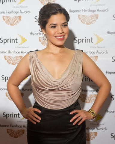 The ever gorgeous America Ferrera rocked a two tone dress at the 24th Annual ...