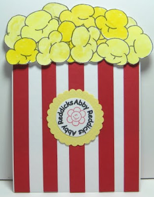 Angel stamper 2 popcorn birthday invitations before i colored in the popcorn my husband says are those brains or popcorn lol filmwisefo