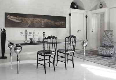 Modern Gothic Decor places of decor: dining room desing - modern gothic concept