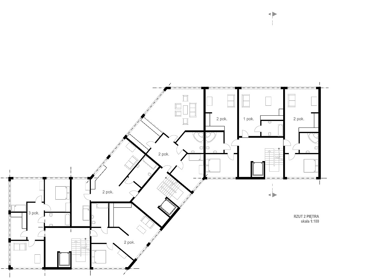 Archidoom multi unit residential week 5th floor plans for Residential blueprints