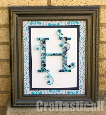Tutorial: Quilled Monogram Letter by Craftastical
