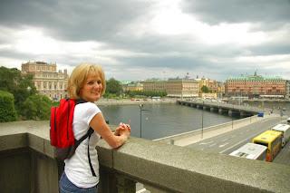 Stockholm blue sky