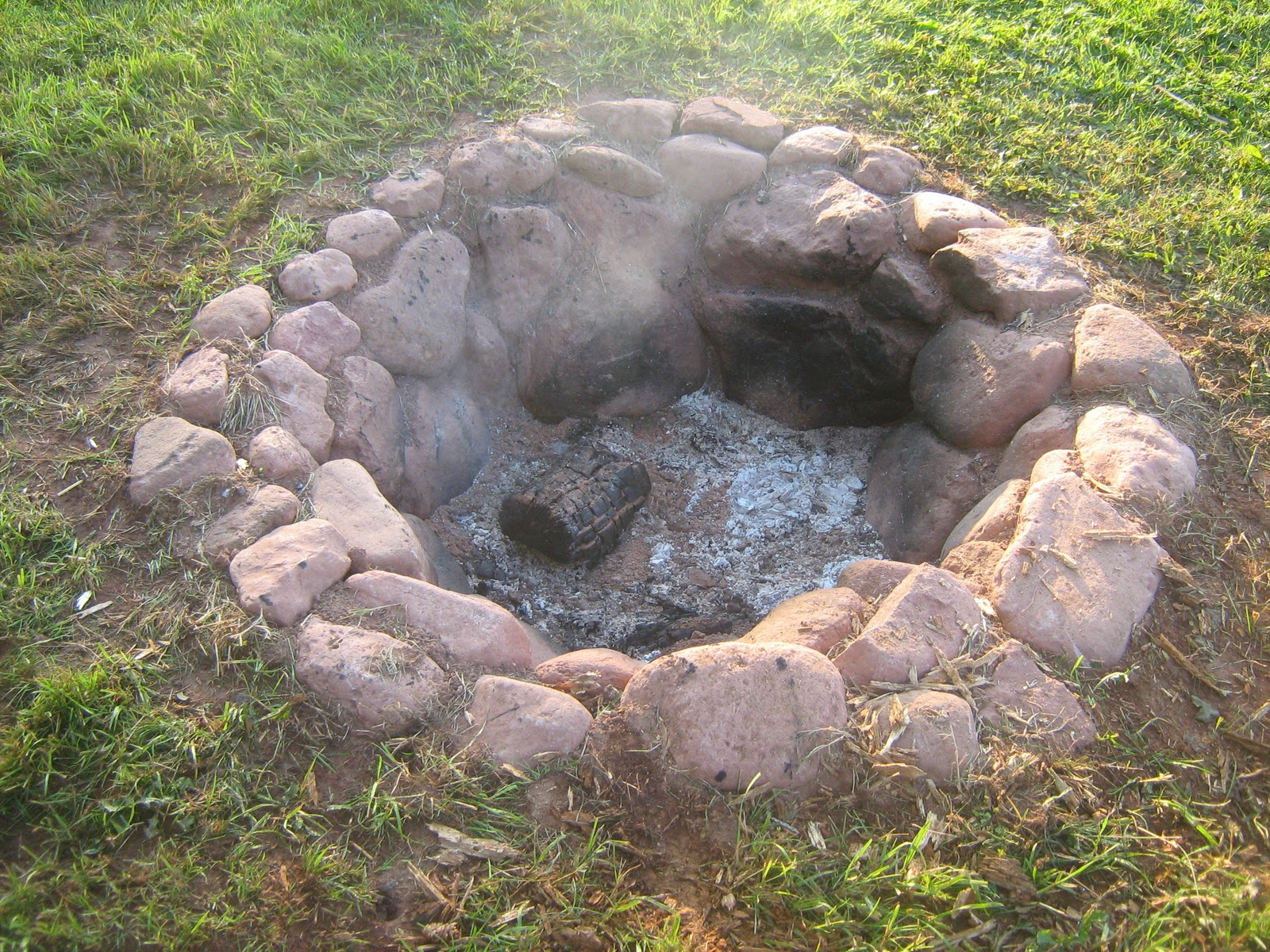 Life begins at retirement making your own firepit for What rocks to use for fire pit