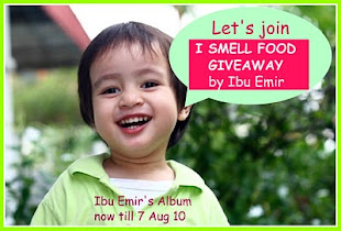 i smell food giveaway  by ibu emir..dapat pizza