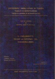 Il Parlamento.Verso la riforma del Bicameralismo -dott. L. Mandunzio