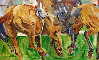 horse racing art