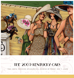 kentucky oaks artwork 2009