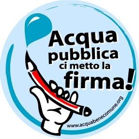 firmare per acqua pubblica
