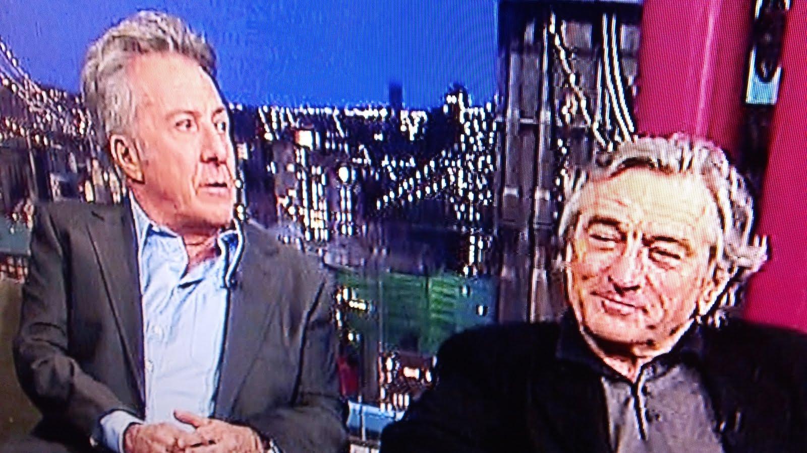 Dustin Hoffman was a guest on, David Letterman