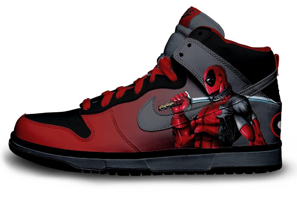 Deadpool Basketball Shoes