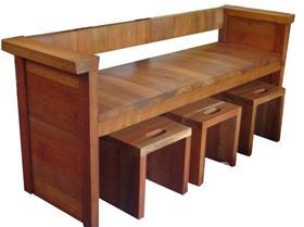 Madera viva algunas banquetas de madera viva - Banqueta de madera ...