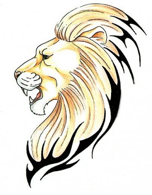 lion head tattoo. lion head tattoos.