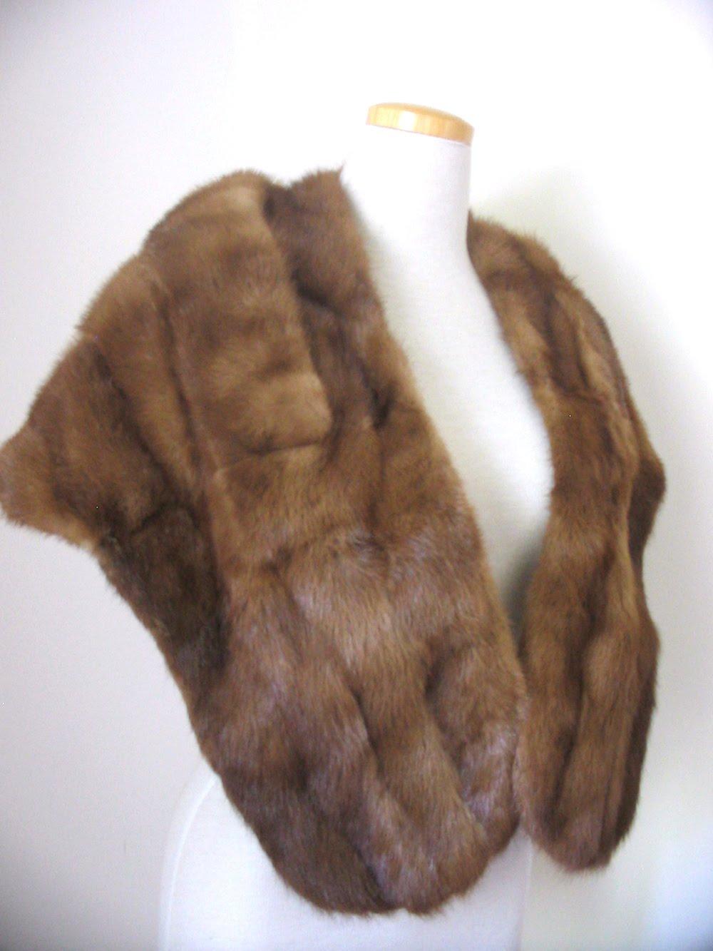 Rockvintagesoul vintage 1950 39 s dark brown mink fur stole - Stoel fur ...