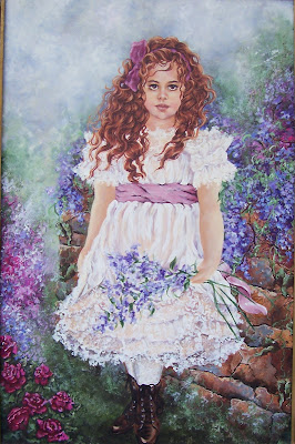 angel victorian girl romantic art painting