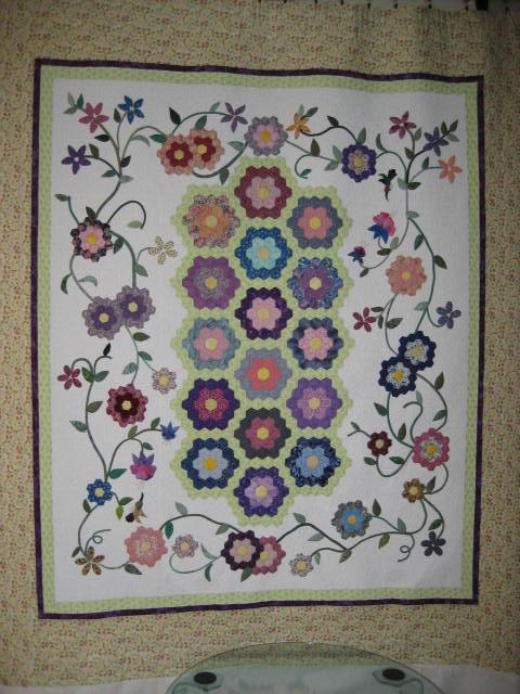 1 more stitch grandmother 39 s flower garden - Grandmother s flower garden quilt ...