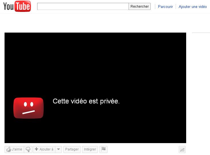 vidéos privées sur Youtube