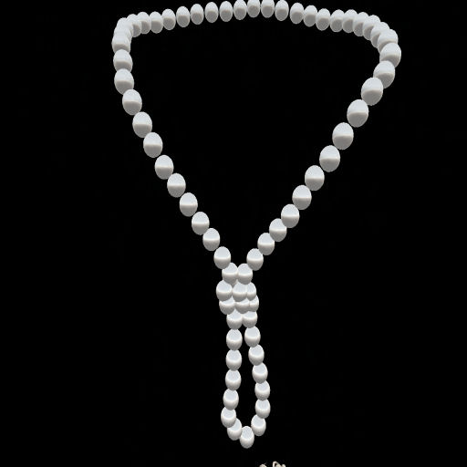 White Pearl Knot Necklace