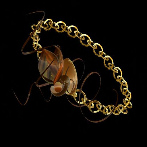 Gold Leaf Cluster Link Bracelet