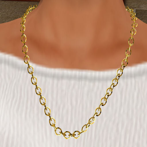 Gold Single Link Necklace