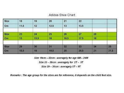 Adidas Baby Shoe Size K