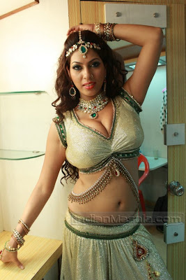 Priya Soni exposing Hot Skin Show during an item song shoot