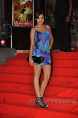 Bollywood Model Actress Shazahn Padamsee at film Dabangg premiere