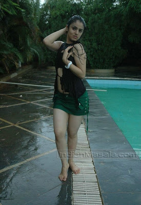 Shefali Sharma Pics Hot Exposure Wet Thighs, Navel and Panty peek