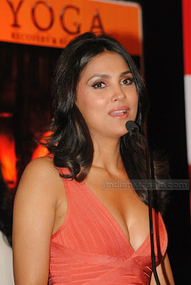 Actress Lara Dutta hot Photos  Bollywood Hot Beauty Lara Dutta ultimate hot figure display at her Yoga DVD launch hot images