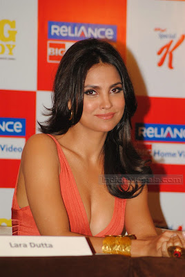 Actress Lara Dutta hot Photos  Bollywood Hot Beauty Lara Dutta ultimate hot figure display at her Yoga DVD launch sexy stills