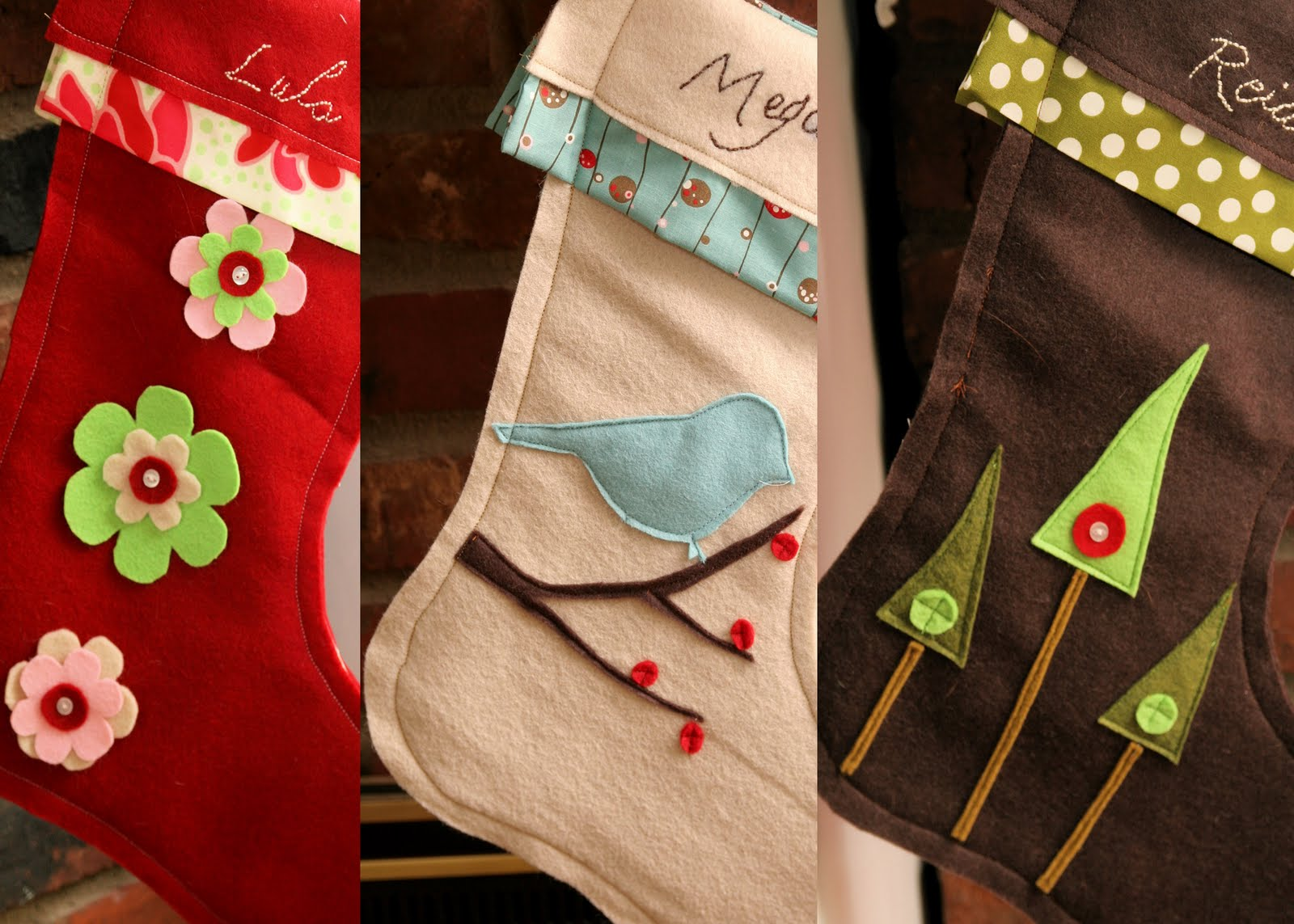 homemade ginger diy felt stockings