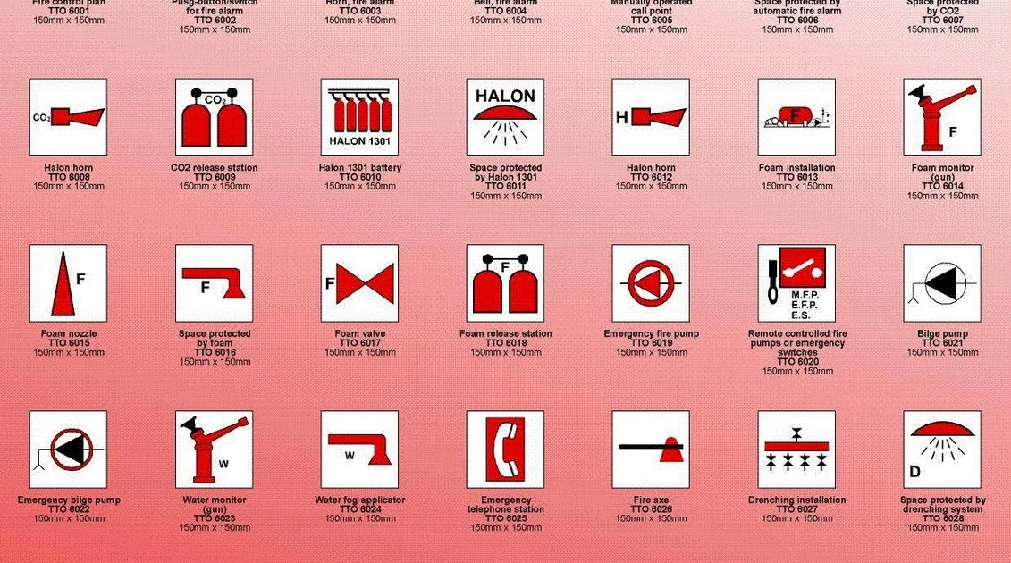 Types Of Car Symbols >> IMO Fire Control Symbols ~ AllMaritime