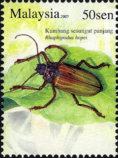 Insects Series 50sen Longhorn Beetle Stamp