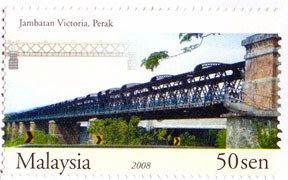 Malaysia Bridges 50sen Victoria Bridge Stamp