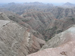 Canyons in the Badlands of South Dakota
