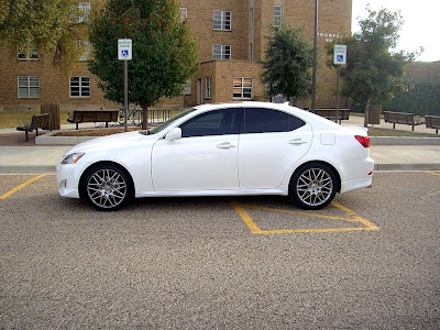 white lexus is250 g spyder rims