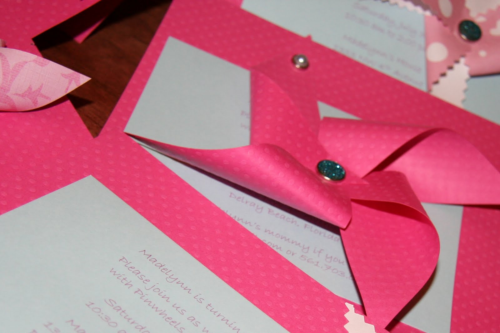 Yarah Designs: Pinwheel + Polkadot Party