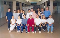 Mestre Fu Sheng Yüan e alunos do curso em Brasília - 2001