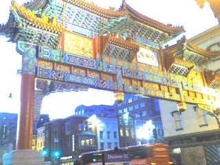 China Town Gate at night in Washington DC